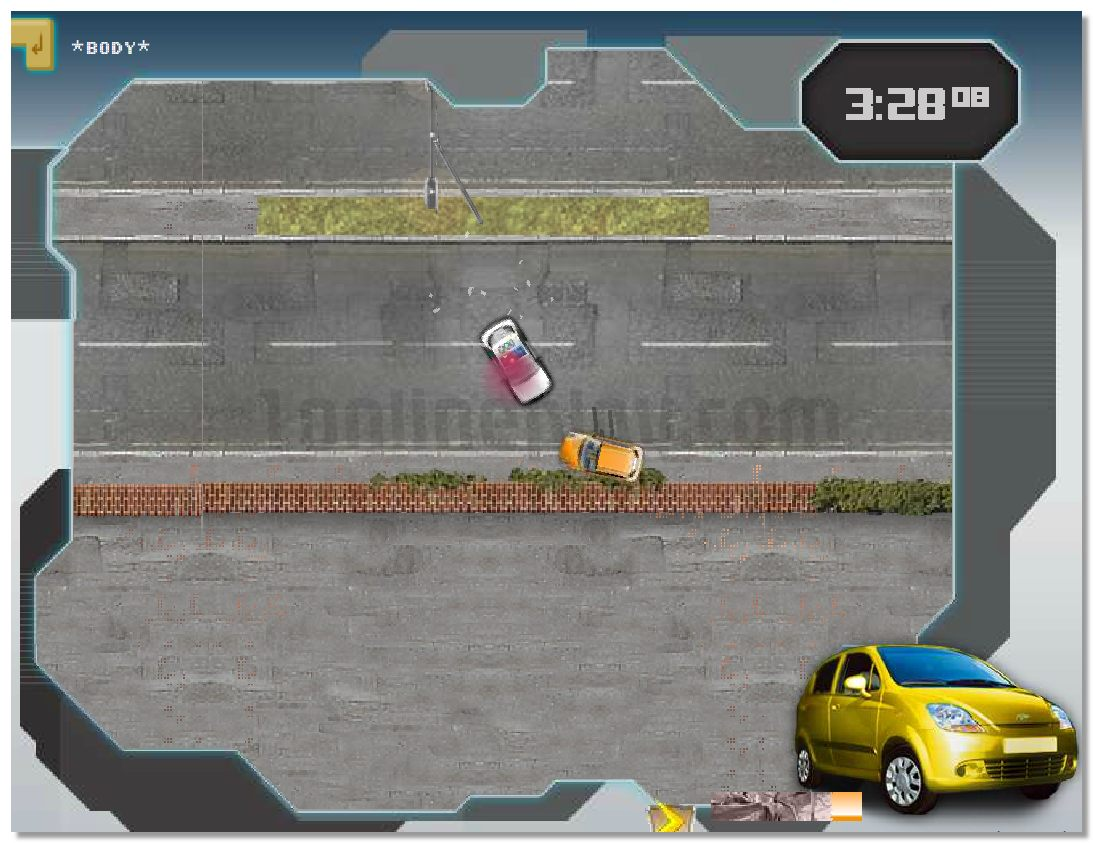 Transformers Energon Crisis top-view city racing game with pursuit image play free