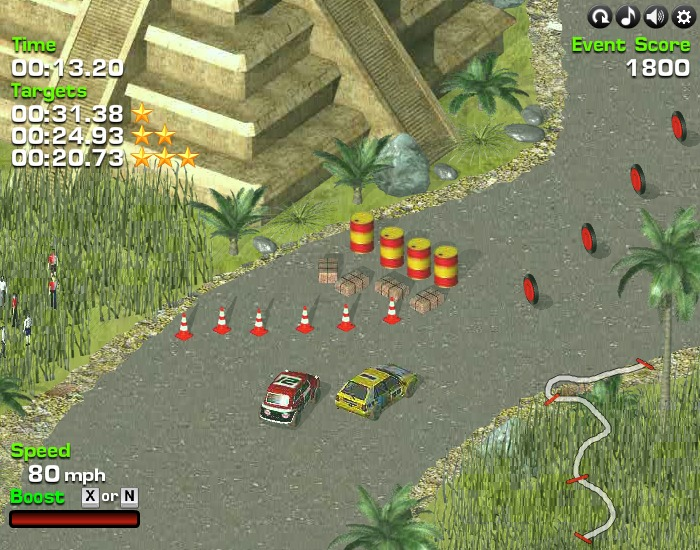Turbo Rally 3D Top-down third-person view driving game image play free