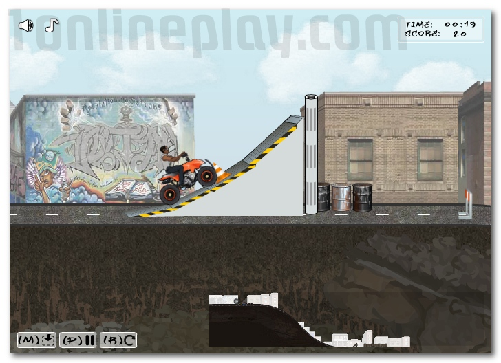 Urban ATV Racing ride motorbike jump and get more points image play free