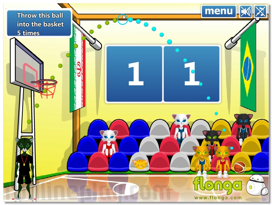 World Basketball Championship fun sports game cat play in basketball image play free