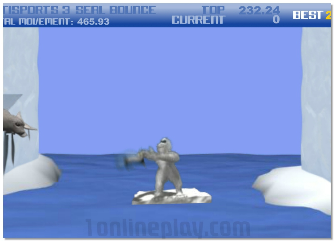 Yetisports part 3 Seal Bounce ballistic sports game image play free