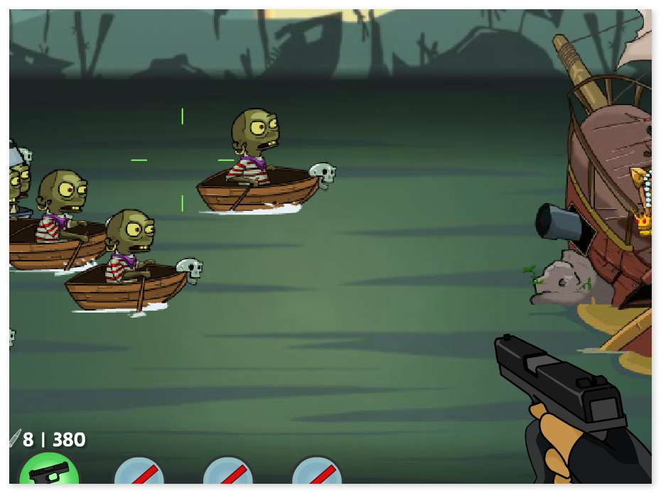 Zombudoy 3 Pirates shoot zombie funny shooter game image play free