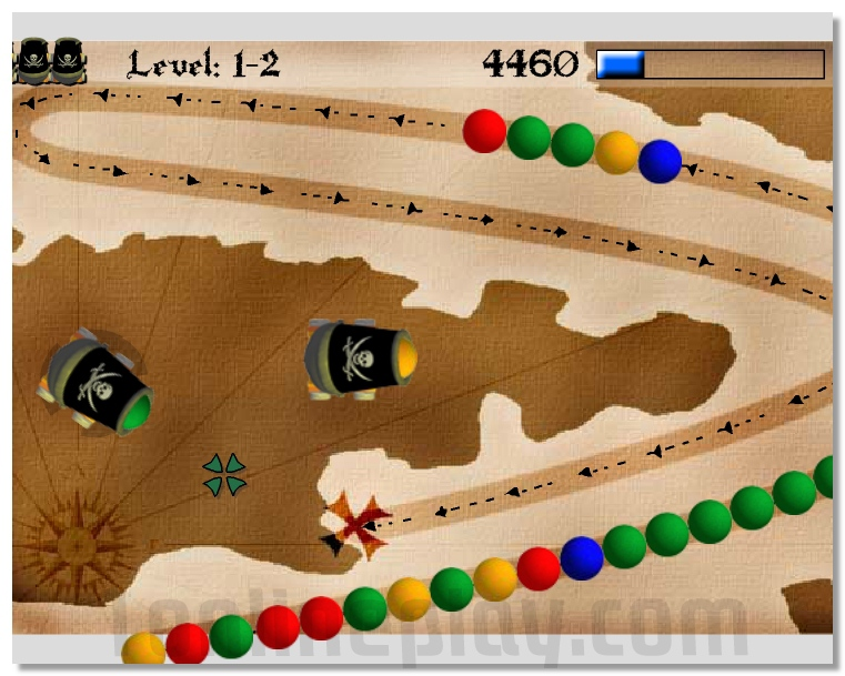 Zuma - Black Beards Island like a zuma puzzle game image play free