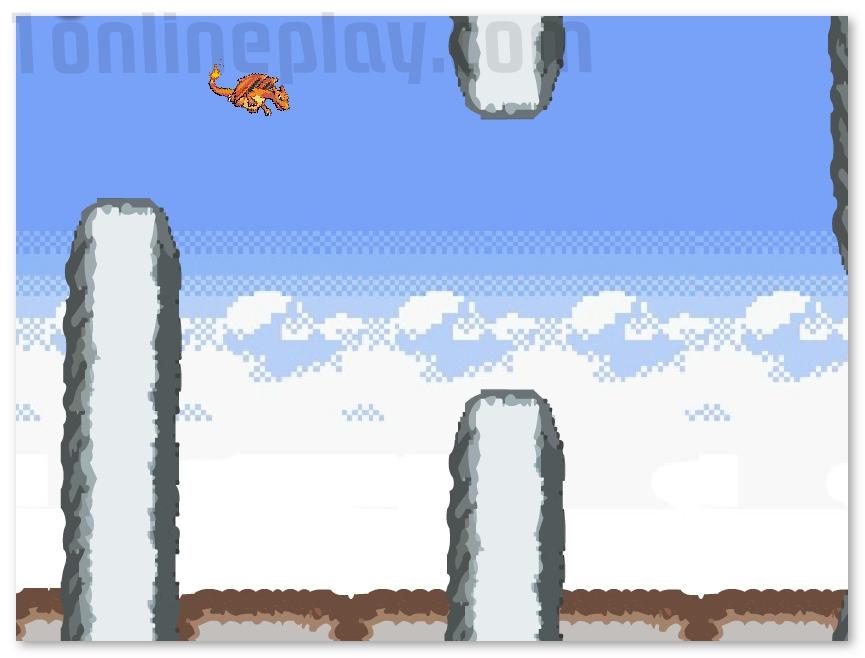 Flying Charizard flappy bird like game image play free