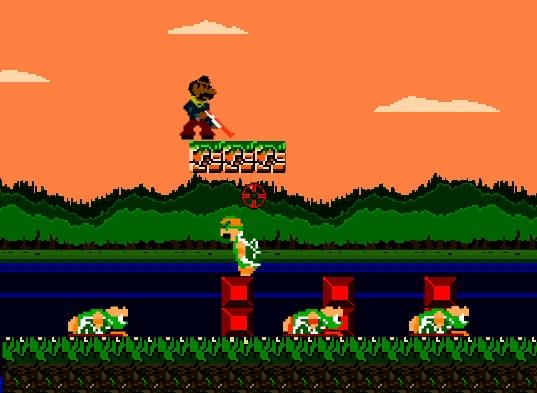 Gangster Bros Mario retro arcade game remake shoot and run image play free