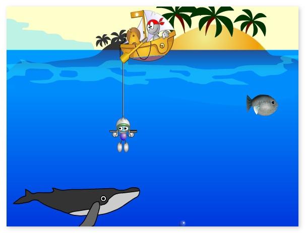 Glug glug get treasure from the bottom of the sea image play free