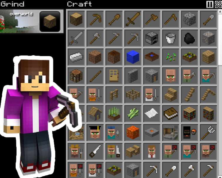 Grind Craft Minecraft clone fun game image play free