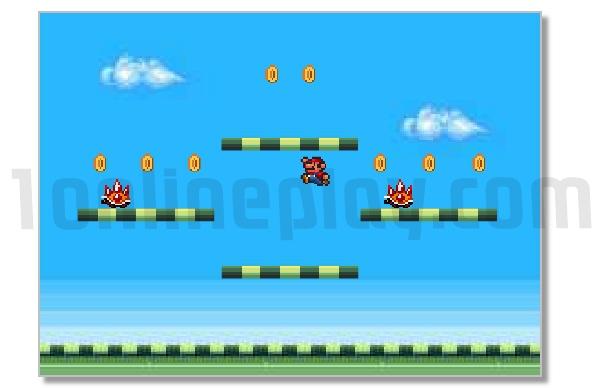 Mario mini retro jumping game image play free