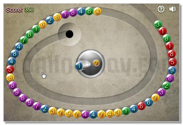 Math Bubbles Zuma game mathematical puzzle image play free