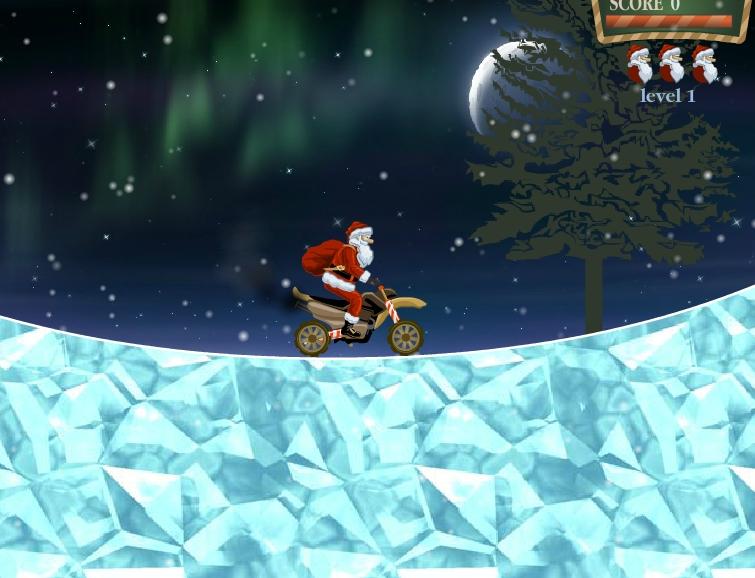 Santa Rider 2 moto bike racing image play free