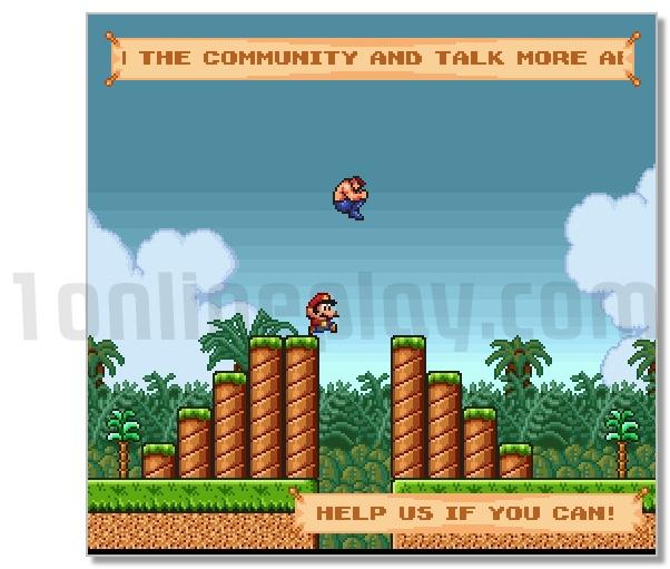 Super Mario crossover retro Heroes in the Mario World image play free